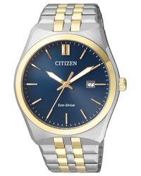 Citizen Eco-drive Blue Dial Mens Watch -66l for men