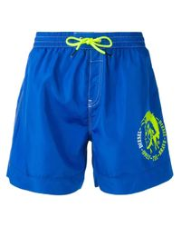 DIESEL Blue Bmbx-wave 2.017 Swim Shorts for men