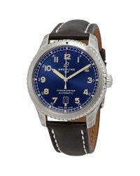 Breitling Avaitor 8 Automatic Chronometer Blue Dial Mens Watch for men