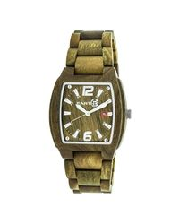 Earth Green Sagano Olive Wood Dial Olive Wood Mens Watch for men
