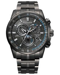 Citizen Pcat Radio Controlled Chronograph Black Dial Mens Watch -55h for men