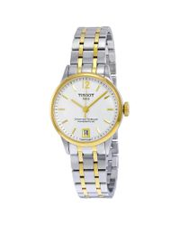 Tissot Metallic T-classic Chemin Des Tourelles Automatic White Dial Two-tone Stainless Steel Watch T0992072203700 for men