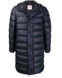 Moncler Mens Blue Longline Puffer Jacket, Brand for men