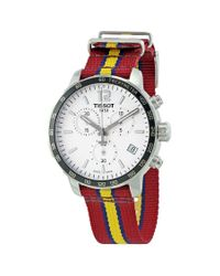 Tissot Red Quickster Nba Teams Cleveland Cavaliers Chronograph Watch