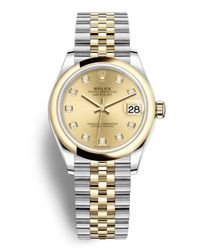 Rolex Metallic Datejust 31 Champagne Diamond Dial Automatic Ladies Steel And 18kt Yellow Gold Jubilee Watch