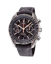 Omega Multicolor Speedmaster Grey Side Of The Moon Meteorite Chronograph Automatic Watch for men