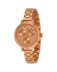 Movado Metallic Bold Rose Gold Ip Stainless Steel Chronograph Ladies Watch