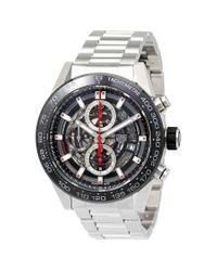 Tag Heuer Metallic Carrera Chronograph Automatic Mens Watch for men