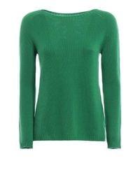 Max Mara Ladies Green  Green Cashmere Sweater, Brand