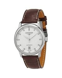 Longines Metallic Master Automatic Diamond Silver Dial Mens Watch for men