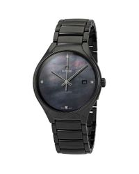 Rado Black True Automatic Diamond Mens Watch for men