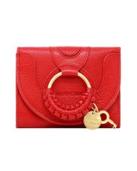 See By Chloé Ladies Small Hana Compact Wallet In Red