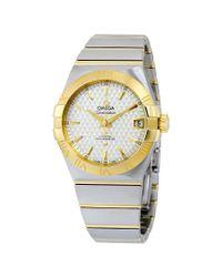 Omega Metallic Constellation Automatic Chronometer Mens Watch for men