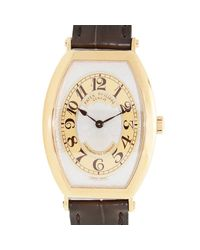 Patek Philippe Multicolor Gondolo Silver Brown Dial 18kt Rose Gold Brown Leather Mens Watch for men