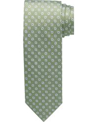 Jos. A. Bank Green 1905 Collection Geometric Print Tie for men