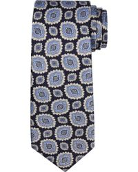 Jos. A. Bank Blue Executive Collection Large Medallion Tie Clearance for men