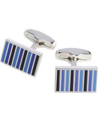 Jos. A. Bank - Blue Enamel Stripe Cufflinks Clearance for Men - Lyst