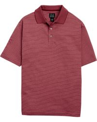 Jos. A. Bank | Red Classic Collection Mini Plaid Polo for Men | Lyst