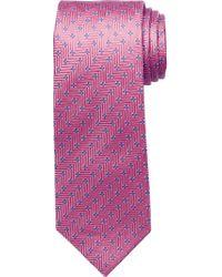 Jos. A. Bank - Purple Traveler Collection Zigzag Tie for Men - Lyst