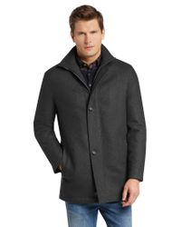 Jos. A. Bank - Gray Executive Collection Traditional Fit Car Coat Clearance for Men - Lyst