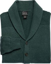 Jos. A. Bank - Gray Executive Collection Cotton Cardigan Sweater Clearance for Men - Lyst
