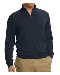 Jos. A. Bank | Gray Signature Merino Wool Half-zip Sweater Big/tall Clearance for Men | Lyst