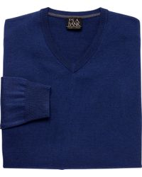 Jos. A. Bank - Blue Traveler Collection Merino Wool V-neck Sweater - Big & Tall for Men - Lyst