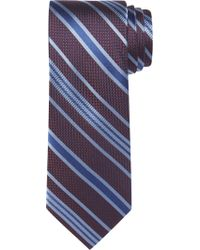 Jos. A. Bank - Purple Signature Collection Textured Stripe Tie for Men - Lyst