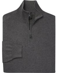 Jos. A. Bank - Gray Traveler Collection Traditional Fit Quarter Zip Pima Cotton Sweater for Men - Lyst