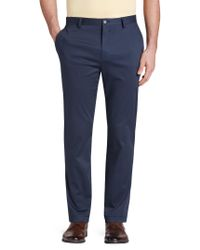 Jos. A. Bank - Blue Reserve Collection Tailored Fit Flat Front Chino Pants - Big & Tall for Men - Lyst