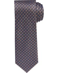 Jos. A. Bank Orange 1905 Collection Geometric Clover Tie for men