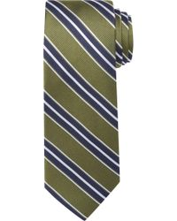 Jos. A. Bank - Green Traveler Collection Triple Stripe Tie for Men - Lyst