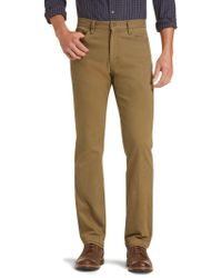 Jos. A. Bank - Green 1905 Collection Tailored Fit Flat Front Cotton Canvas Pants for Men - Lyst