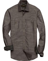 Jos. A. Bank - Brown Reserve Collection Tailored Fit Spread Collar Dobby Sportshirt Clearance for Men - Lyst