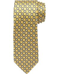 Jos. A. Bank - Yellow Traveler Collection Textured Squares Tie - Long for Men - Lyst
