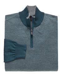 Jos. A. Bank | Gray Joseph Half Zip Birdseye Sweaters Clearance for Men | Lyst
