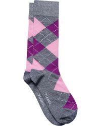 Jos. A. Bank Blue Argyle Socks, One-pair for men