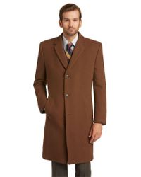 Jos. A. Bank - Brown Executive Collection Tailored Fit Topcoat Clearance for Men - Lyst