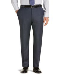 Jos. A. Bank | Blue Traveler Collection Regal Fit Flat Front Sharkskin Suit Separate Pants for Men | Lyst