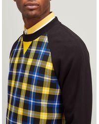 Joseph - Black Jersey + Check Sweatshirt for Men - Lyst