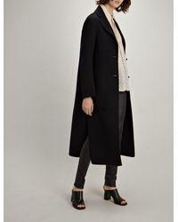 Joseph Blue Double Wool Silk Marvil Coat