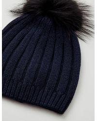 Joseph - Blue Cashmere Luxe Pompon Hat - Lyst