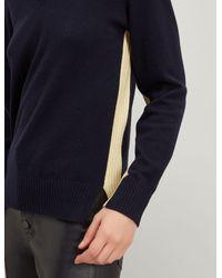 Joseph Blue Mongolian Cashmere V Neck Sweater