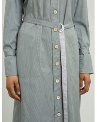 Joseph - Gray Locke Pinstripe Mix Dress - Lyst