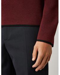 Tricot à col roulé en laine Milano Joseph pour homme en coloris Red