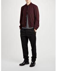 JOSEPH Purple Tay Techno Wool Stretch Jacket for men