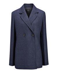 JOSEPH | Blue Brest Linen Jacket | Lyst