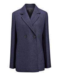 Joseph | Blue Linen Suiting Brest Jacket | Lyst