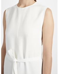 JOSEPH White Textured Viscose Easton Dress