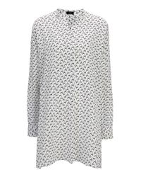 JOSEPH | White Bird Print Crepe De Chine New Dara Blouse | Lyst